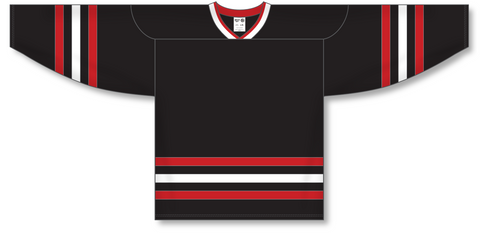 Image of Athletic Knit (AK) H550A New Chicago Blackhawks Third Black Hockey Jersey - PSH Sports
