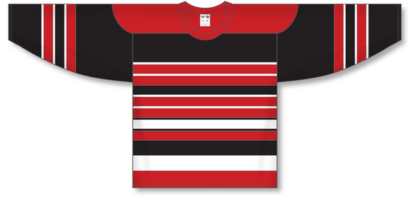 Athletic Knit (AK) H550A Chicago Blackhawks Multi Stripe Hockey Jersey - PSH Sports