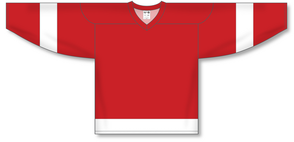 Athletic Knit (AK) H550A Detroit Redwings Red Hockey Jersey - PSH Sports