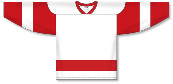 Athletic Knit (AK) H550A Detroit Redwings White Hockey Jersey - PSH Sports