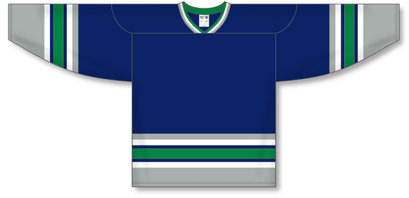 Athletic Knit (AK) H550A Hartford Whalers Navy Hockey Jersey - PSH Sports