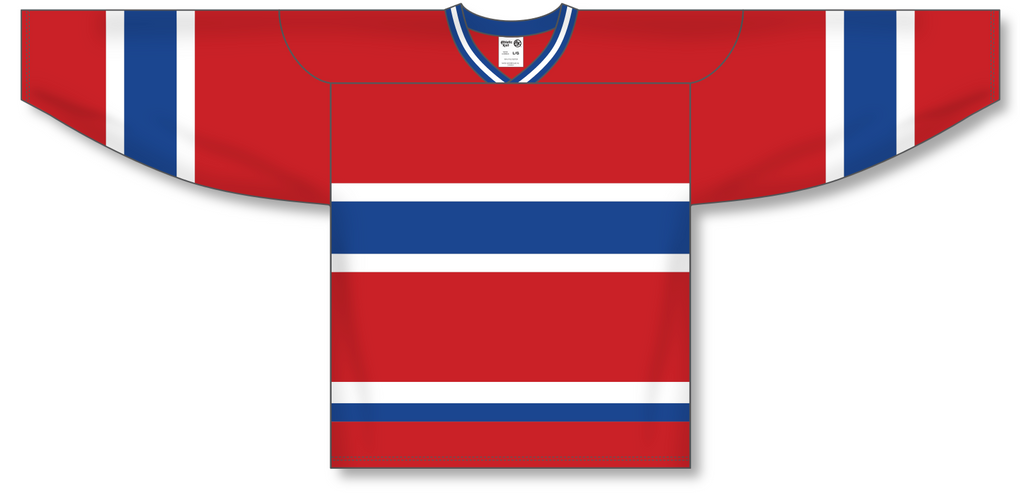 Athletic Knit (AK) H550A Montreal Canadiens Red Hockey Jersey - PSH Sports