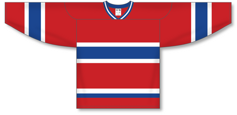 Image of Athletic Knit (AK) H550A Montreal Canadiens Red Hockey Jersey - PSH Sports