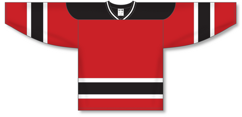 Image of Athletic Knit (AK) H550A New Jersey Devils Red Hockey Jersey - PSH Sports