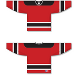 Athletic Knit (AK) H550A New Jersey Devils Red Hockey Jersey - PSH Sports
