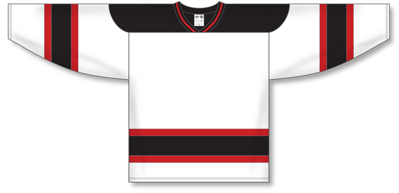 Athletic Knit (AK) H550A New Jersey Devils White Hockey Jersey - PSH Sports