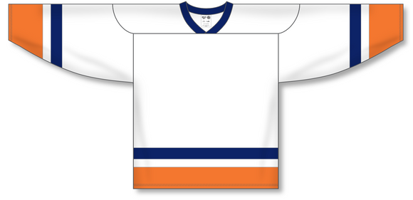 Athletic Knit (AK) H550A New York Islanders White Hockey Jersey - PSH Sports