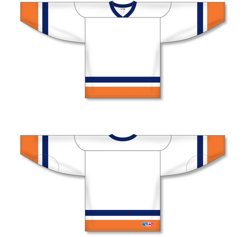 Image of Athletic Knit (AK) H550A New York Islanders White Hockey Jersey - PSH Sports