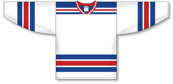 Athletic Knit (AK) H550A New York Rangers White Hockey Jersey - PSH Sports