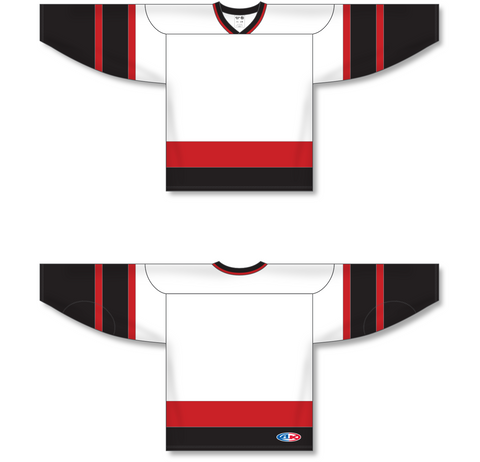 Image of Athletic Knit (AK) H550A Ottawa Senators White Hockey Jersey - PSH Sports