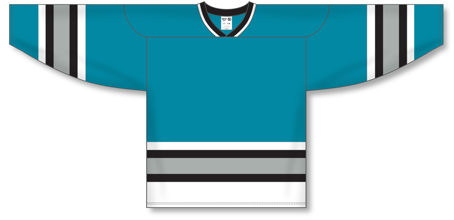 Athletic Knit (AK) H550A San Jose Sharks Teal Hockey Jersey - PSH Sports ... 09e0e193937