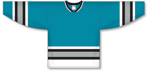 Athletic Knit (AK) H550A San Jose Sharks Teal Hockey Jersey - PSH Sports