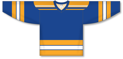 Image of Athletic Knit (AK) H550A Classic St. Louis Blues Royal Blue Hockey Jersey - PSH Sports