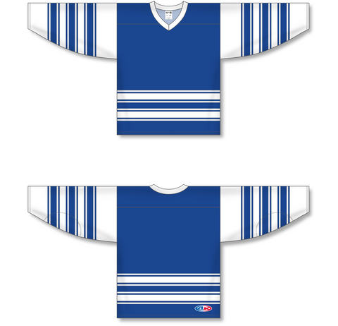 Image of Athletic Knit (AK) H550A Classic Toronto Maple Leafs Royal Blue Hockey Jersey - PSH Sports