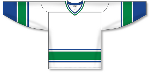 Athletic Knit (AK) H550A 2004 Vancouver Canucks White Hockey Jersey - PSH Sports