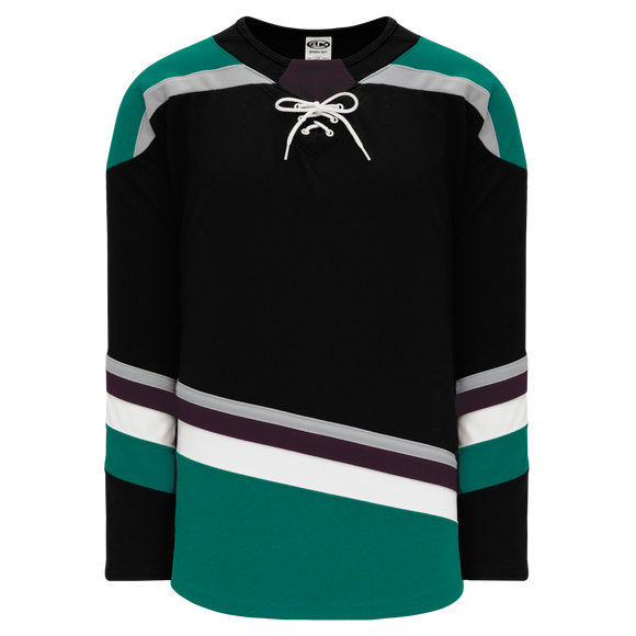 Athletic Knit (AK) H550BY-ANA496B Youth 2018 Anaheim Ducks Third Black Hockey Jersey