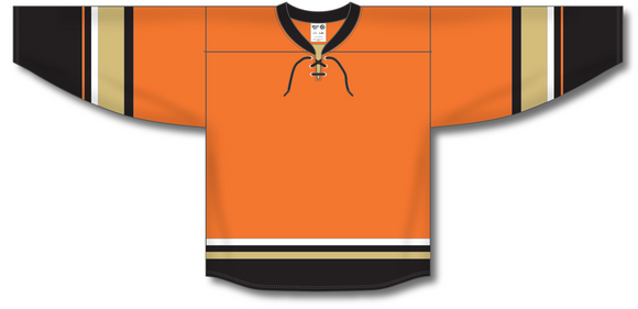 Athletic Knit (AK) H550B 2015 Anaheim Ducks Third Orange Hockey Jersey - PSH Sports