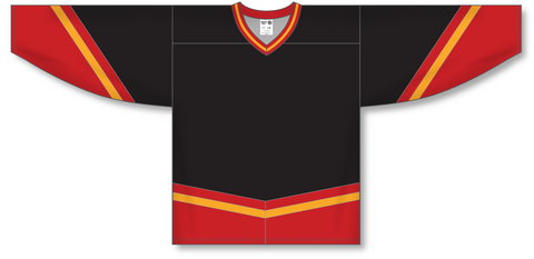 Image of Athletic Knit (AK) H550B New Calgary Flames Third Black Hockey Jersey - PSH Sports