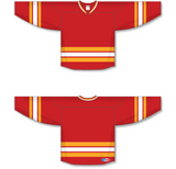 Athletic Knit (AK) H550B 2009 Calgary Flames Third Red Hockey Jersey - PSH Sports