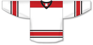 Athletic Knit (AK) H550B 2013 Carolina Hurricanes White Hockey Jersey - PSH Sports