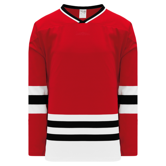 Athletic Knit (AK) H550B Chicago Blackhawks Red Hockey Jersey