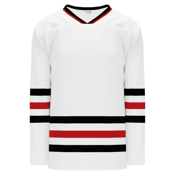 Athletic Knit (AK) H550B Chicago Blackhawks White Hockey Jersey