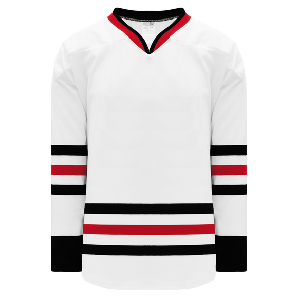 Athletic Knit (AK) H550B 2007 Chicago Blackhawks White Hockey Jersey