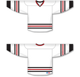 Athletic Knit (AK) H550B 2007 Chicago Blackhawks White Hockey Jersey - PSH Sports