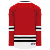 Athletic Knit (AK) H550BA-CHI494B Adult 2017 Chicago Blackhawks Red Hockey Jersey