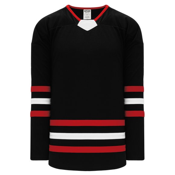 Athletic Knit (AK) H550B-CHI670B New Chicago Blackhawks Third Black Hockey Jersey