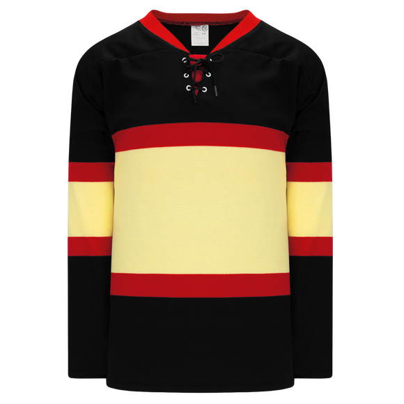 Athletic Knit (AK) H550B Chicago Blackhawks Winter Classic Black Hockey Jersey
