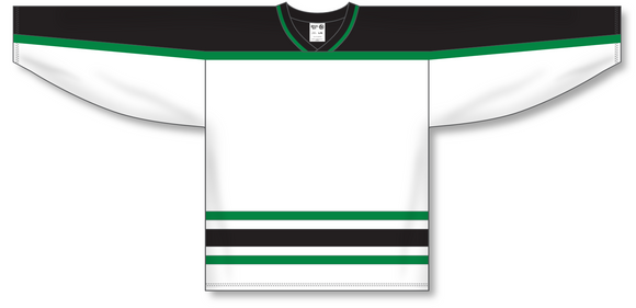 Athletic Knit (AK) H550B Dallas Stars White Hockey Jersey - PSH Sports