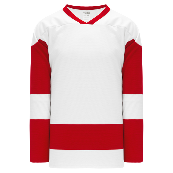 Athletic Knit (AK) H550B Detroit Red Wings White Hockey Jersey