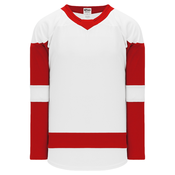 Athletic Knit (AK) H550BA-DET756B Adult 2017 Detroit Red Wings White Hockey Jersey