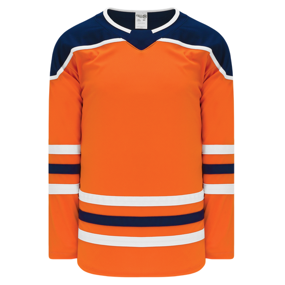 Athletic Knit (AK) H550BA-EDM369B Adult 2017 Edmonton Oilers Orange Hockey Jersey