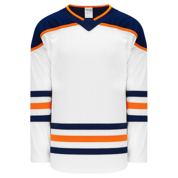 Athletic Knit (AK) H550B-EDM371B 2017 Edmonton Oilers White Hockey Jersey