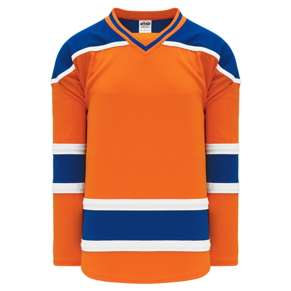 Athletic Knit (AK) H550BY-EDM738B New Youth 2015 Edmonton Oilers Third Orange Hockey Jersey