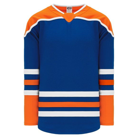 Athletic Knit (AK) H550BA-EDM877B Adult 2018 Edmonton Oilers Third Royal Blue Hockey Jersey