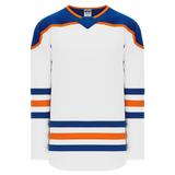 Athletic Knit (AK) H550BA-EDM878B Adult 2018 Edmonton Oilers Third White Hockey Jersey