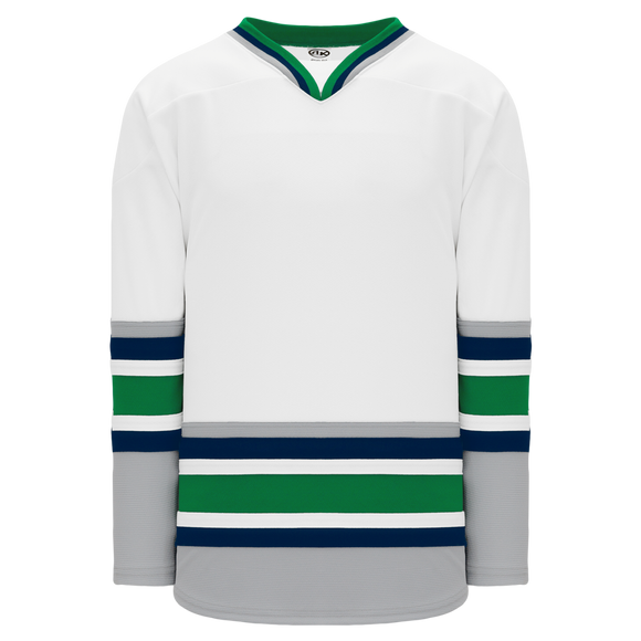 Athletic Knit (AK) H550BY-HAR958B New Youth 1992 Hartford Whalers White Hockey Jersey