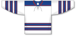 Athletic Knit (AK) H550B Hockey Hall of Fame Legends White Hockey Jersey - PSH Sports