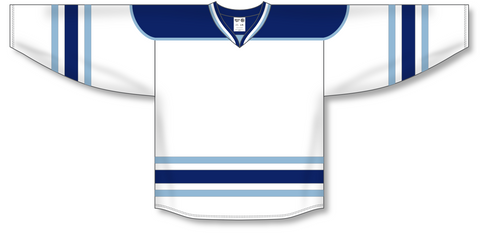 Image of Athletic Knit (AK) H550B University of Maine Black Bears White Hockey Jersey - PSH Sports