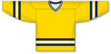 Athletic Knit (AK) H550B 2011 University of Michigan Wolverines Maize Hockey Jersey - PSH Sports