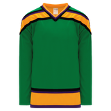 Athletic Knit (AK) H550B-MIG647B Mighty Ducks Kelly Green Hockey Jersey