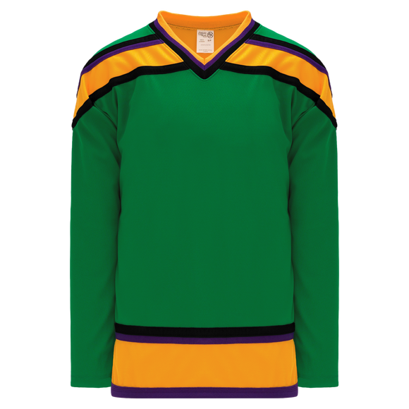 Athletic Knit (AK) H550BY-MIG647B Youth Mighty Ducks Kelly Green Hockey Jersey