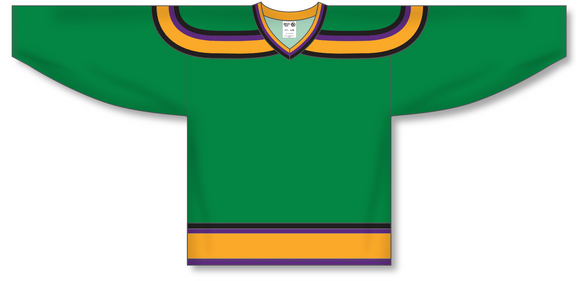 Athletic Knit (AK) H550B Mighty Ducks Kelly Green Hockey Jersey - PSH Sports