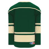 Athletic Knit (AK) H550BA-MIN563B Adult 2009 Minnesota Wild Third Dark Green Hockey Jersey