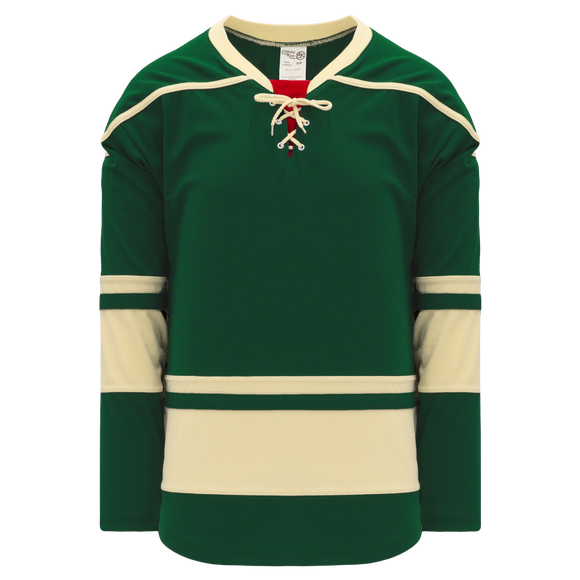 Athletic Knit (AK) H550B-MIN563B 2009 Minnesota Wild Third Dark Green Hockey Jersey