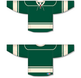 Athletic Knit (AK) H550B 2009 Minnesota Wild Third Dark Green Hockey Jersey - PSH Sports