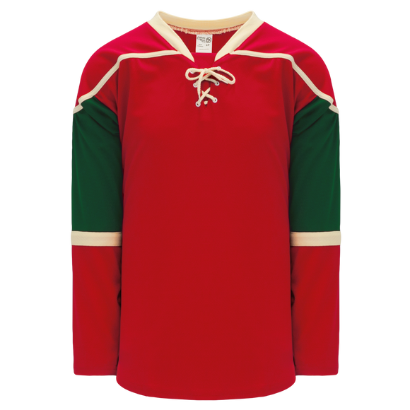 Athletic Knit (AK) H550B-MIN564B 2007 Minnesota Wild Red Hockey Jersey